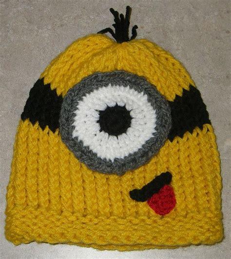 free character knitting patterns free minion hat pattern knitting loom