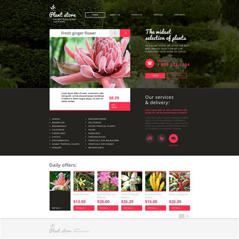 Flower Shop Responsive Website Template 46994 Flower Website Templates