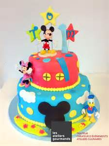 gateau mickey 5 anniversaire mickey design