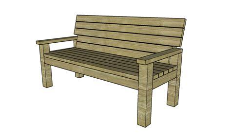 2x4 park bench plans sturdy 2x4 bench buildsomething