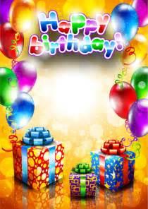happy birthday banner design vector free download free happy birthday postcard free vector download 5 434