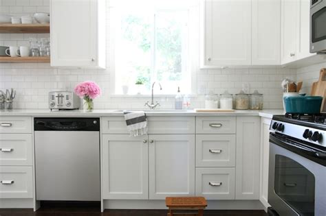 White Shaker Cabinets Kitchen by White Shaker Cabinets Transitional Kitchen Benjamin