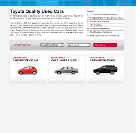 toyota corporate website portfolio corporate toyota used cars application