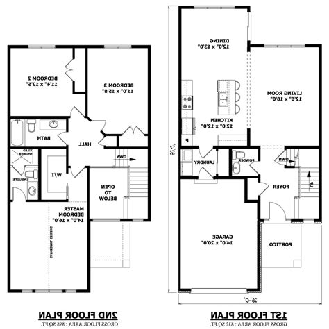 Floor Plan For Two Story House Inspiring Simple Two Story House Plans Ideas Best Idea