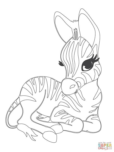 coloring pages of cute baby animals cute baby zebra coloring page free printable coloring pages