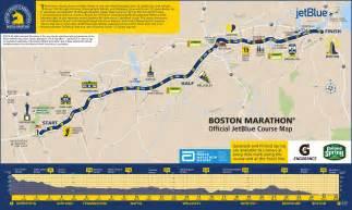 marathon map april 18th boston marathon newton road closures my town