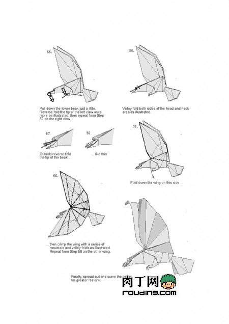 Origami Eagle Diagram - best 25 origami eagle ideas on origami