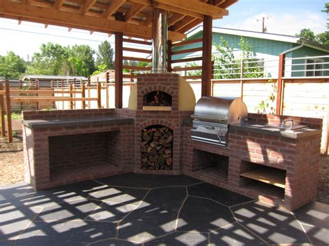 another outdoor kitchen with our wood fired oven outdoor kitchen with wood fired oven and grill firespeaking