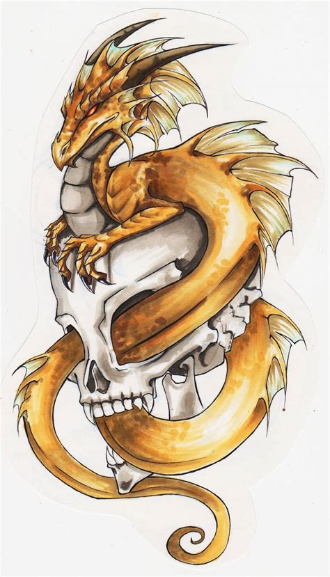 dragon and skull tattoo designs 55 best tattoos designs collection