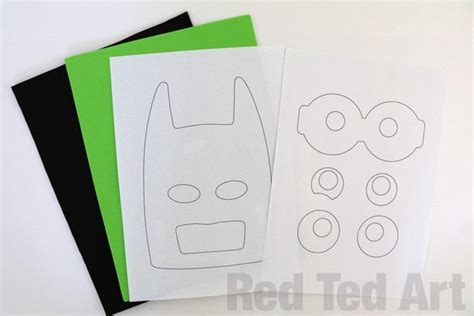 lego mask printable template the lego batman movie mask diy red ted art s blog