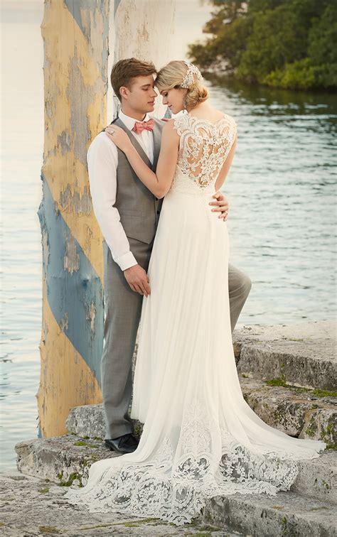 designer beach wedding dress wedding dresses essense