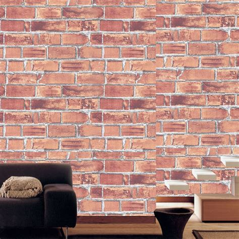 red peel and stick wallpaper red brick contact paper peel and stick wallpaper