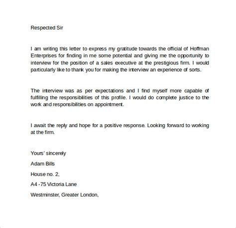 interview follow up letter 9 download free documents in