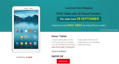 Tablet Huawei Honor huawei honor tablet debuts with 3g load the