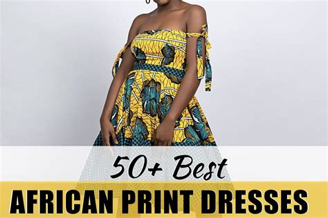 Simple African Print Short Dresses