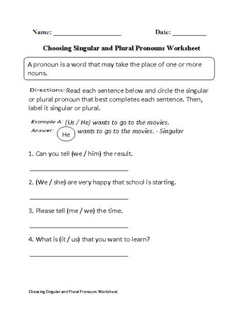 singular plural pronouns worksheets 15 best images of singular and plural possessive nouns worksheets singular and plural nouns