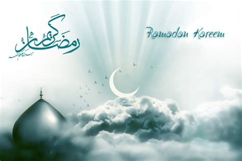 wallpaper  background islami bulan suci ramadhan