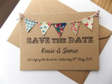summer fete wedding invitations save the date fabric bunting wedding invitation country