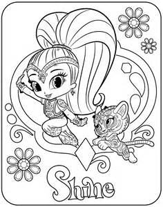 shimmer and shine coloring pages printable shimmer and shine coloring pages getcoloringpages