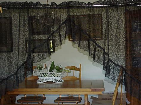 victorian swag curtains vintage victorian lace black swag curtains