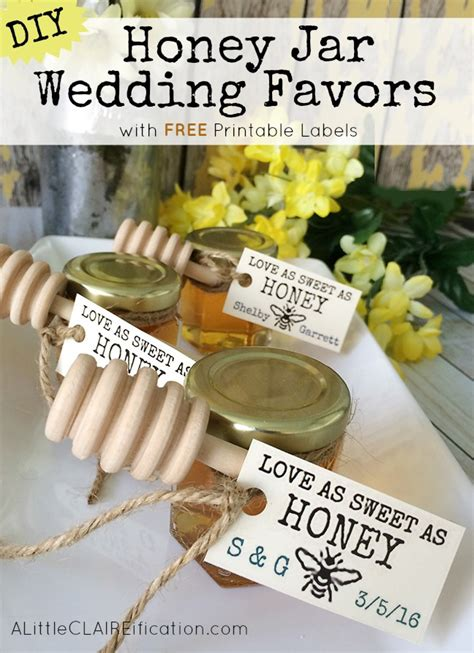 Wedding Favors Honey Jars by Honey Jar Wedding Favors With Free Printable Labels A