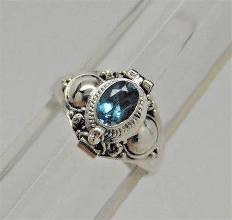 blue topaz cremation urn ring 9 sterling silver cremation