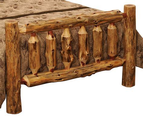 Rustic Log Furniture by Rustic Minnesota Eastern Cedar Log Bed