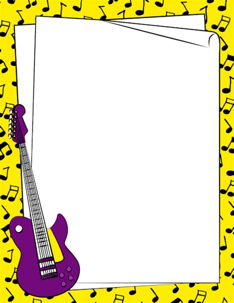 Musical Instrument Repair Cover Letter by A Guitar Page Border Free Downloads At Http Pageborders Org Guitar Border Page