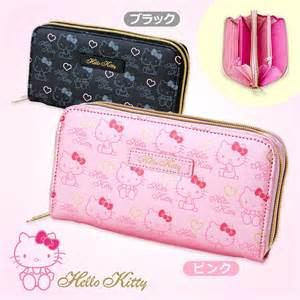 Black Bath Rugs Hello Kitty Double Wallet Dual Compartment Heart Pink
