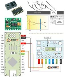 wiring the max30100 rate monitor with arduino microcontroller 14core