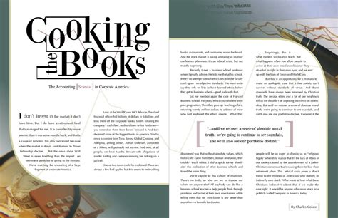 Article Page Layout Design | musings of a chocolate lover cooking the books layout