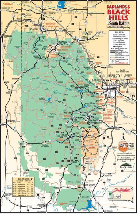 sturgis usa map badlands black area mt rushmore