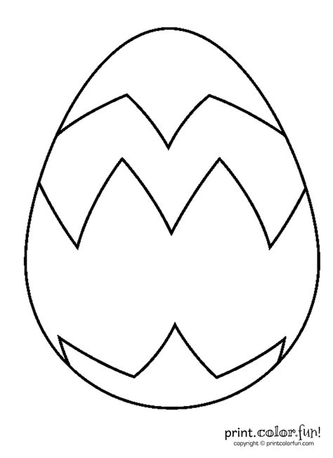 Coloring Page Large Easter Egg | big easter egg coloring page print color fun