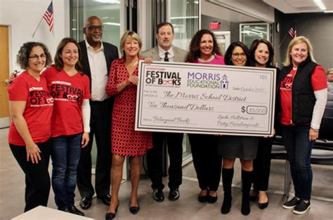 district libraries receive donation hobnob branson morris school district board of education receives 10 000
