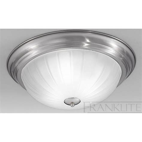 Glass Ceiling Light Cf5642el Flush Ceiling 2 Light Nickel Glass