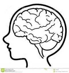het pictogramjong geitje van hersenen royalty vrije stock