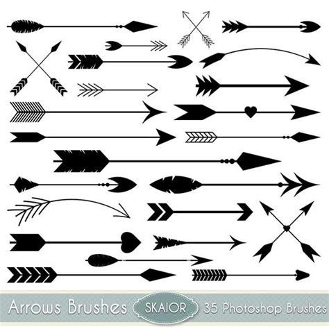 free doodle arrow vector arrows photoshop brushes vector arrow ps brushes tribal arrows