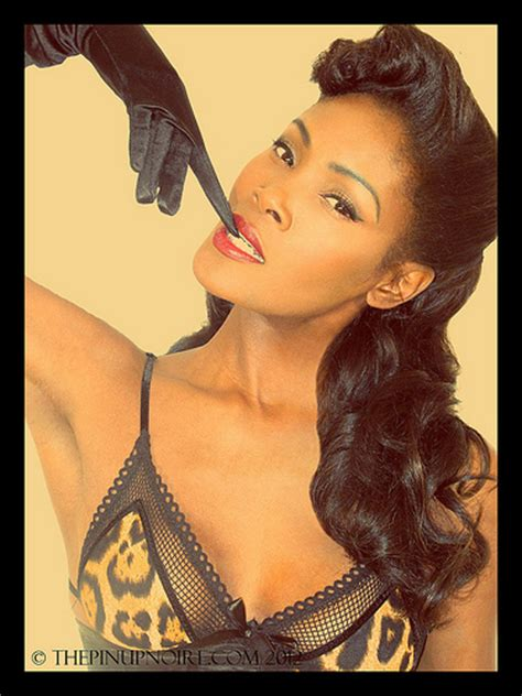 pin up hairstyles for black women with long hair angelique noire 2012 black pin up flickr photo sharing