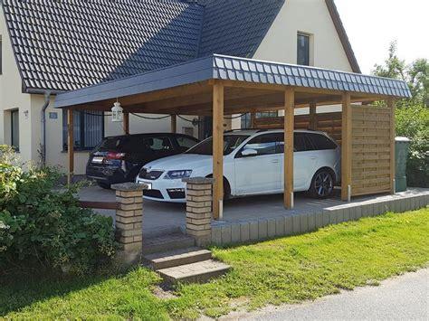 doppelcarport aus holz flachdach carport aus holz mit carport konfigurator planen