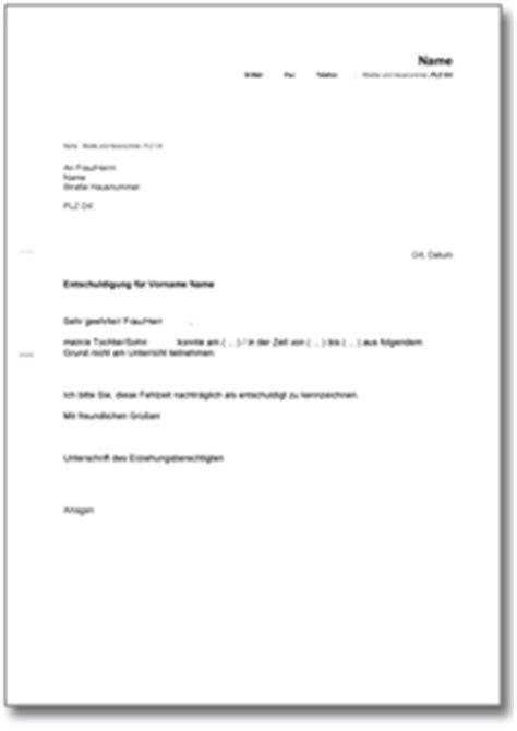 Brief Zu Lieferverzug entschuldigung f 252 r die schule ch musterbrief