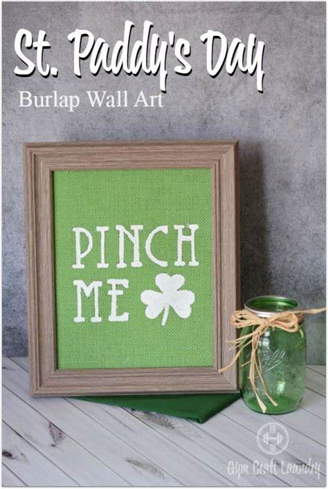 diy burlap wall art easy st patricks day decor