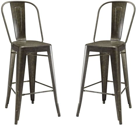 Set Of Metal Bar Stools by Antique Brown Metal Bar Stool Set Of 2 From Coaster