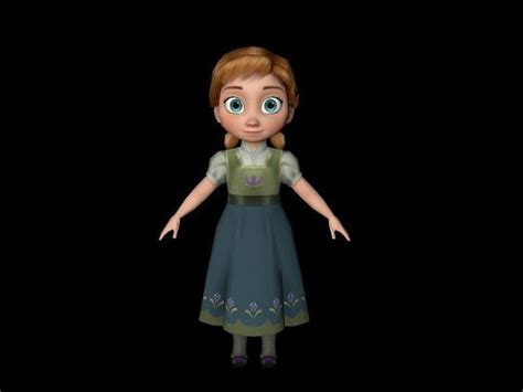 3d tiny girl young girl free vr ar low poly 3d model fbx cgtrader com