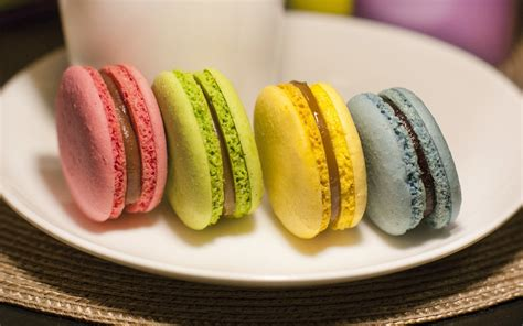 Sweet Macaroon Pink macaroon colorful pink green yellow blue wallpaper