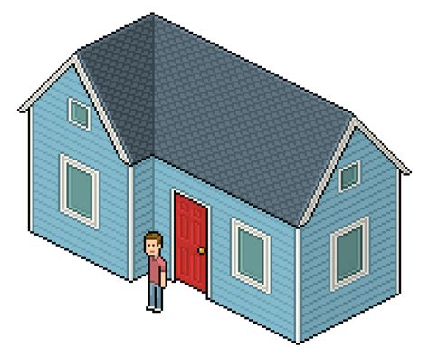house pattern photoshop create an isometric pixel art house in adobe photoshop