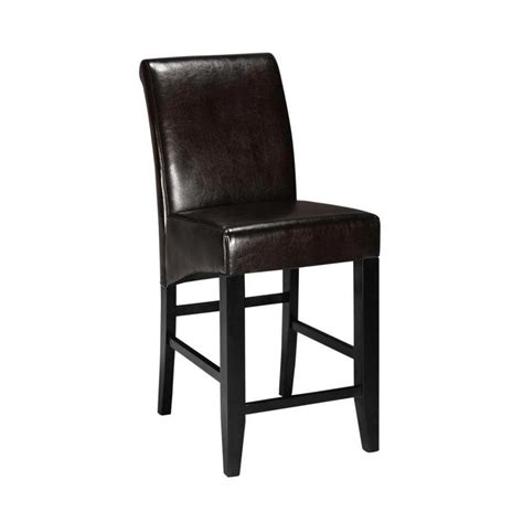 25 Bar Stools With Back by Parsons 25 25 In Espresso Cushioned Counter Stool With
