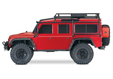 red land rover defender traxxas trx4 land rover defender 1 10 crawler red