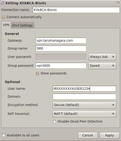 vpn tarumanagara coretan kecil banking bca bisnis di ubuntu