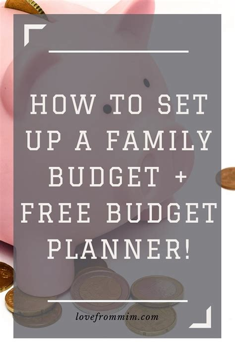set   family budget  family budget planner