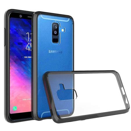 olixar exoshield tough snap on samsung a6 plus 2018 black
